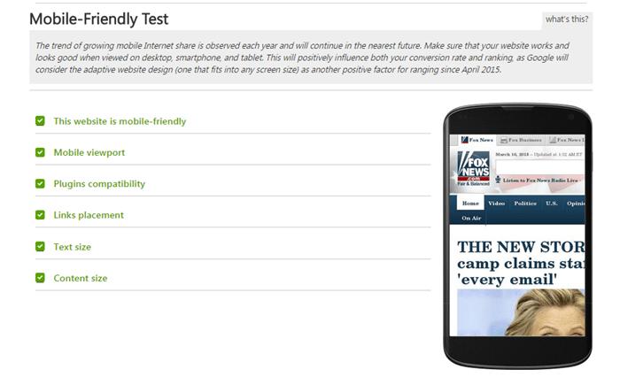 mobile-friendly analysis