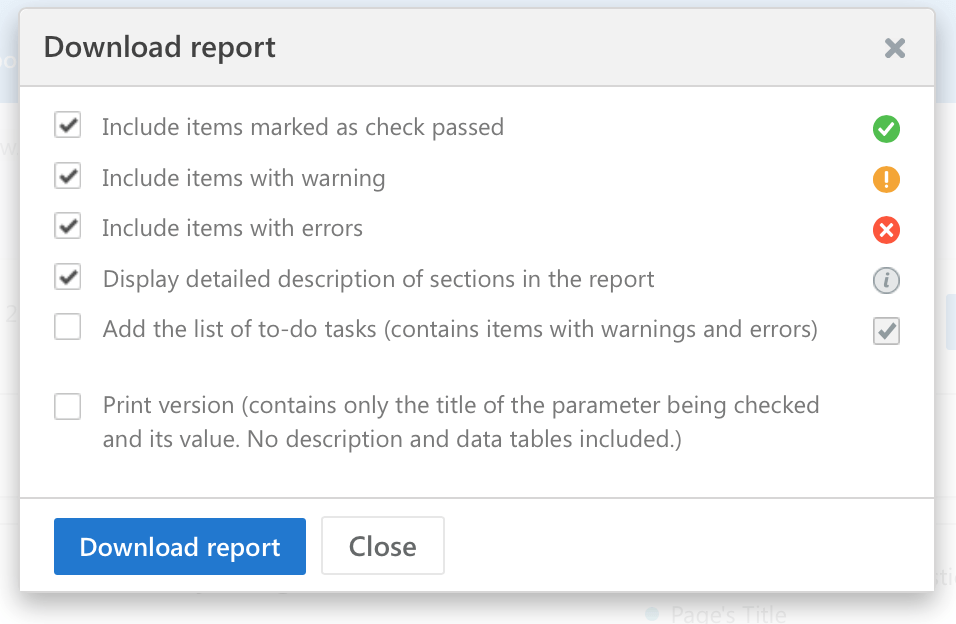 On-page SEO audit report