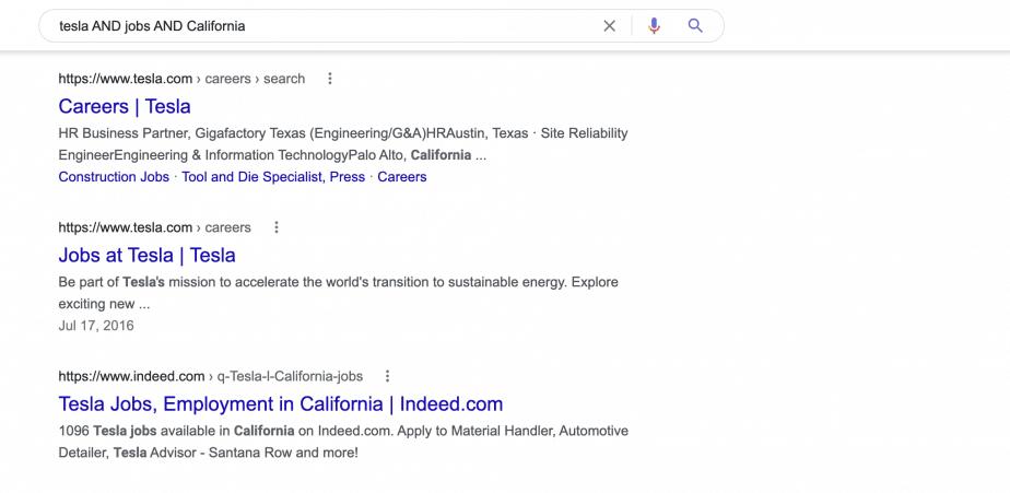 tesla AND jobs AND California