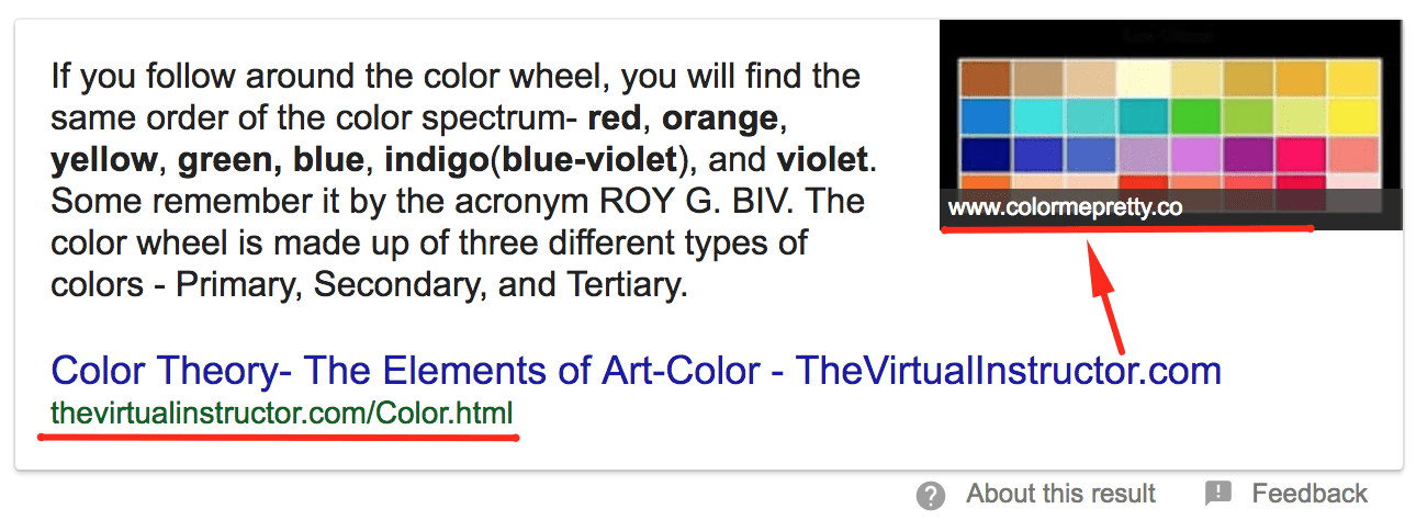 Image in a Featured Snippet