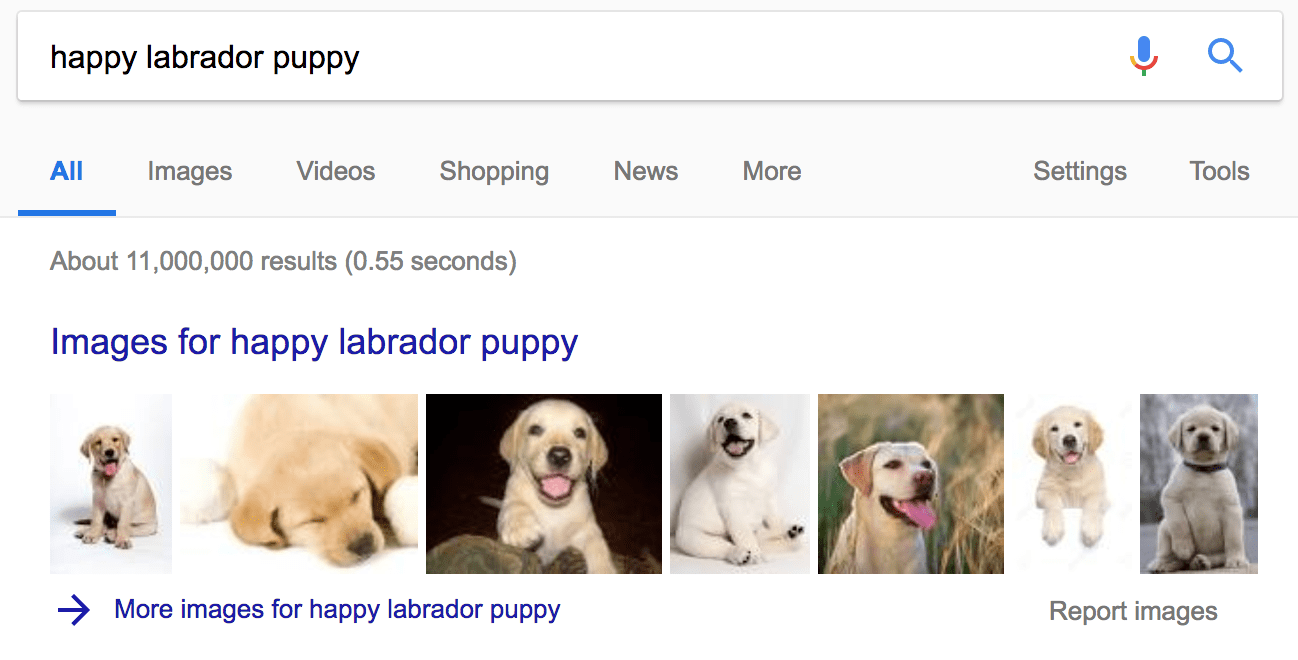 Images in SERP
