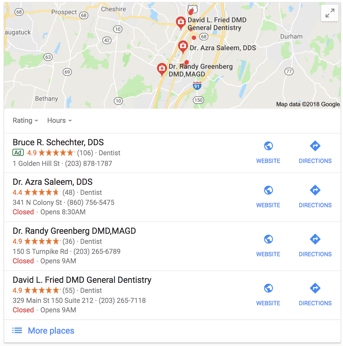 16 google serp features you should monitor for better seolocal pack example