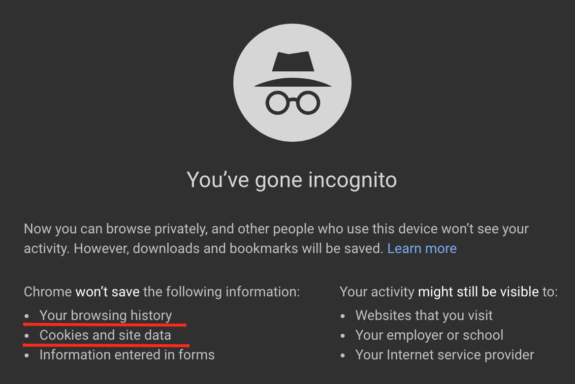 incognito search