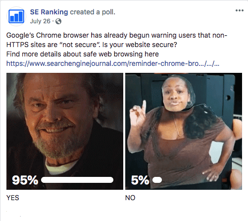 Social poll with link
