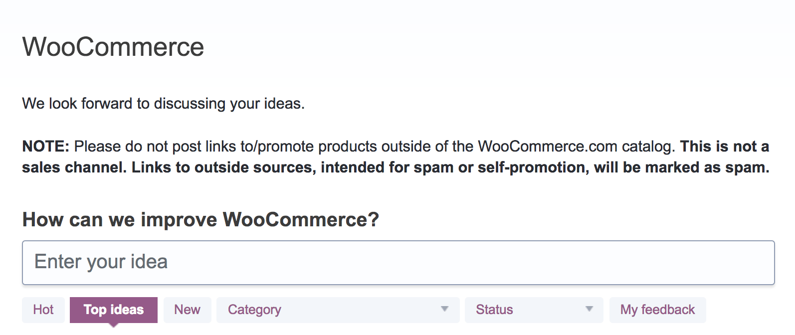 WooCommerce forum subdomain