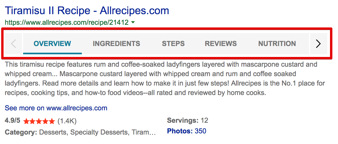 How to structure content for Bing SERP features