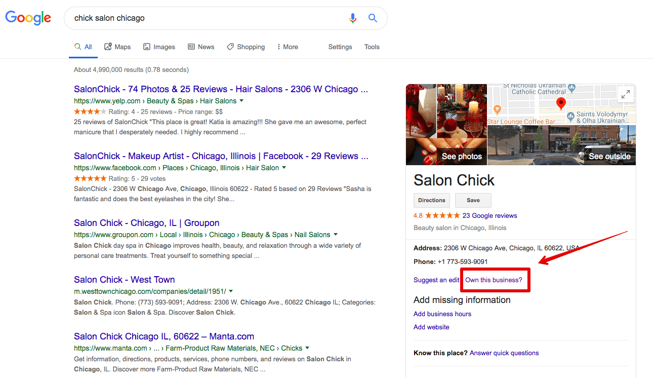 claiming google my business listing