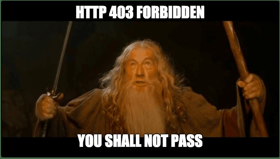 403 Forbidden meme