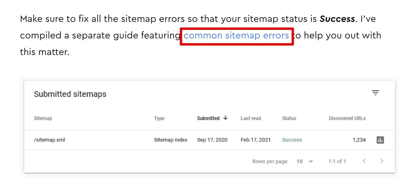 contextual links usage sample