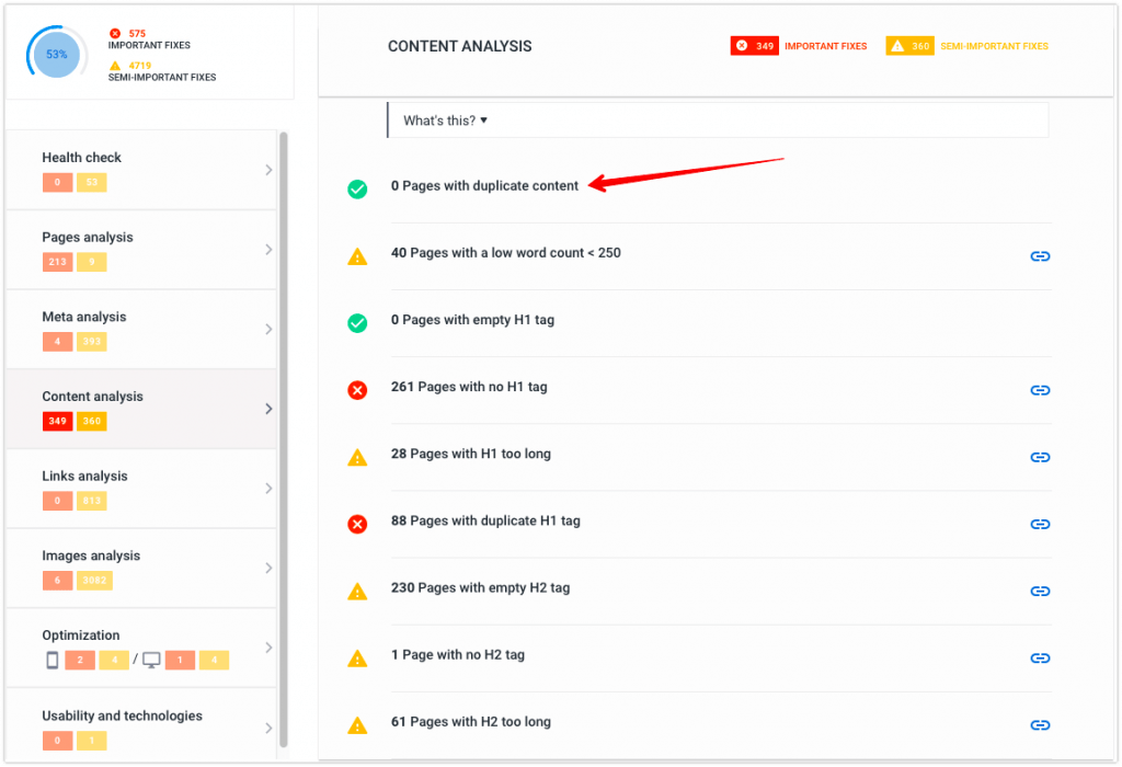 Where to remove page duplicates in SE Ranking