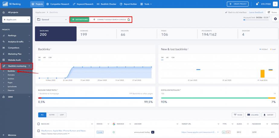 backlink monitoring tool