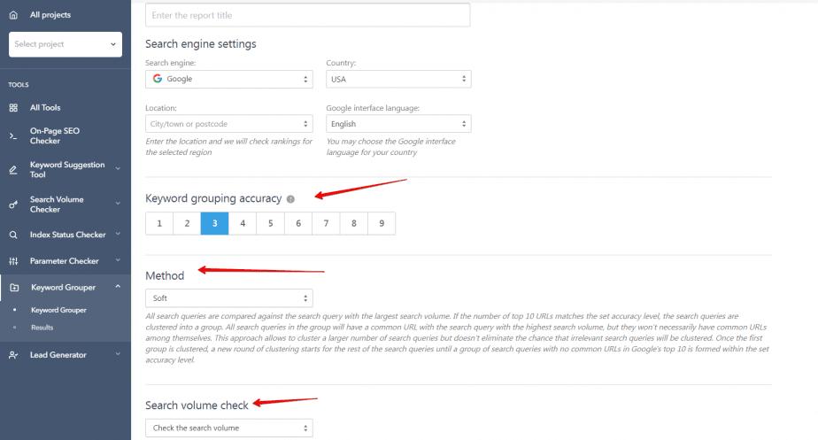keyword grouping tool