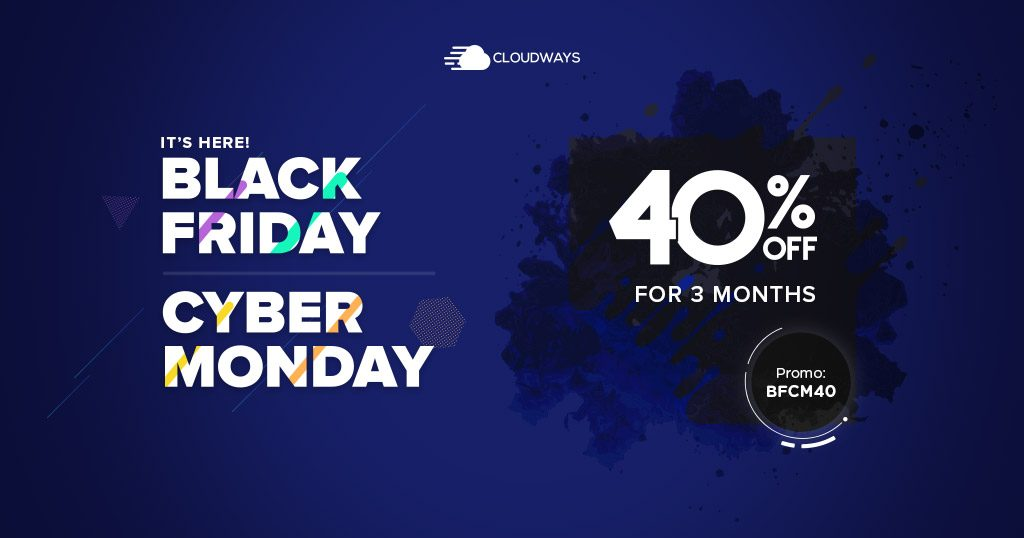 Black Friday 2019 Deal from Cloudways