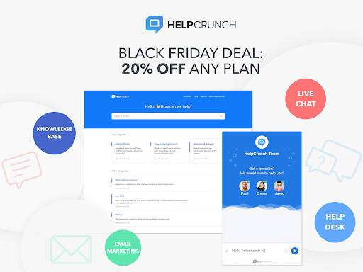 Black Friday 2019 Deal from HelpCrunch