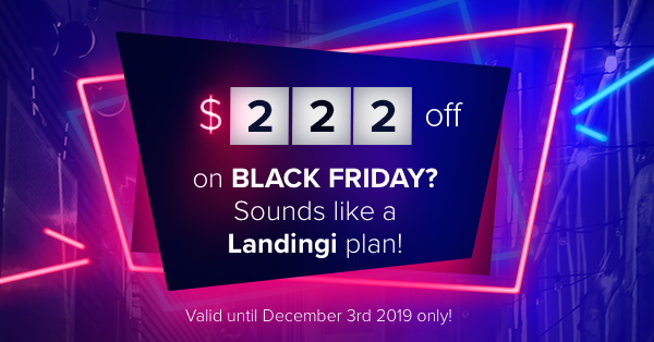 Black Friday 2019 Deal from Landingi