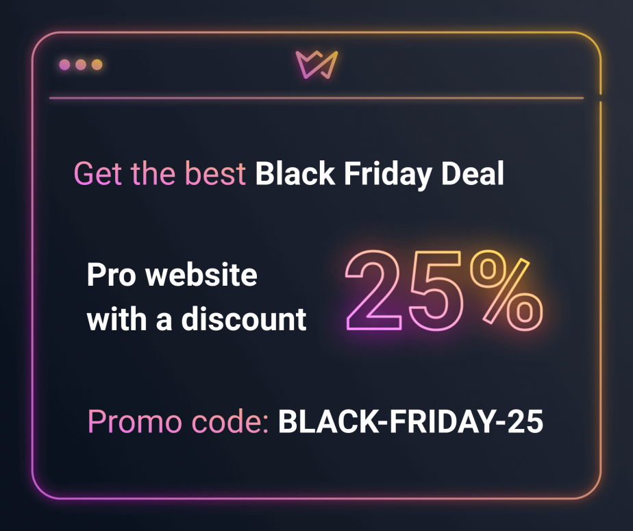 Black Friday 2019 Deal from Weblium