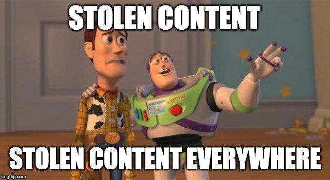Stolen content everywhere