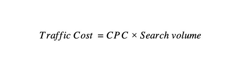 Traffic-Cost-formula