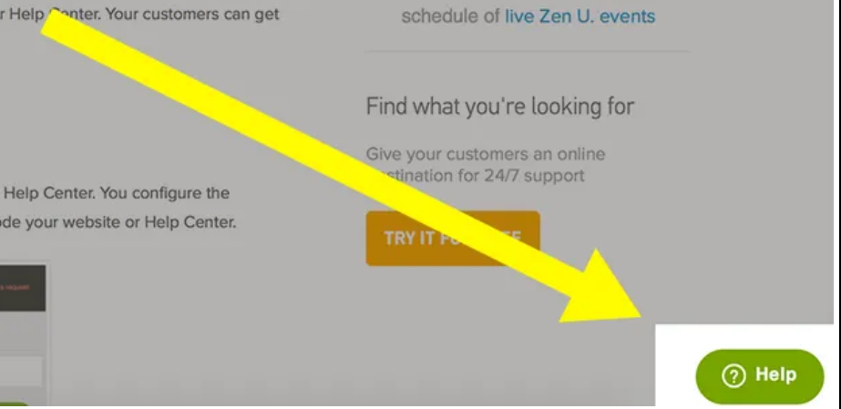 Example of a customer service widget