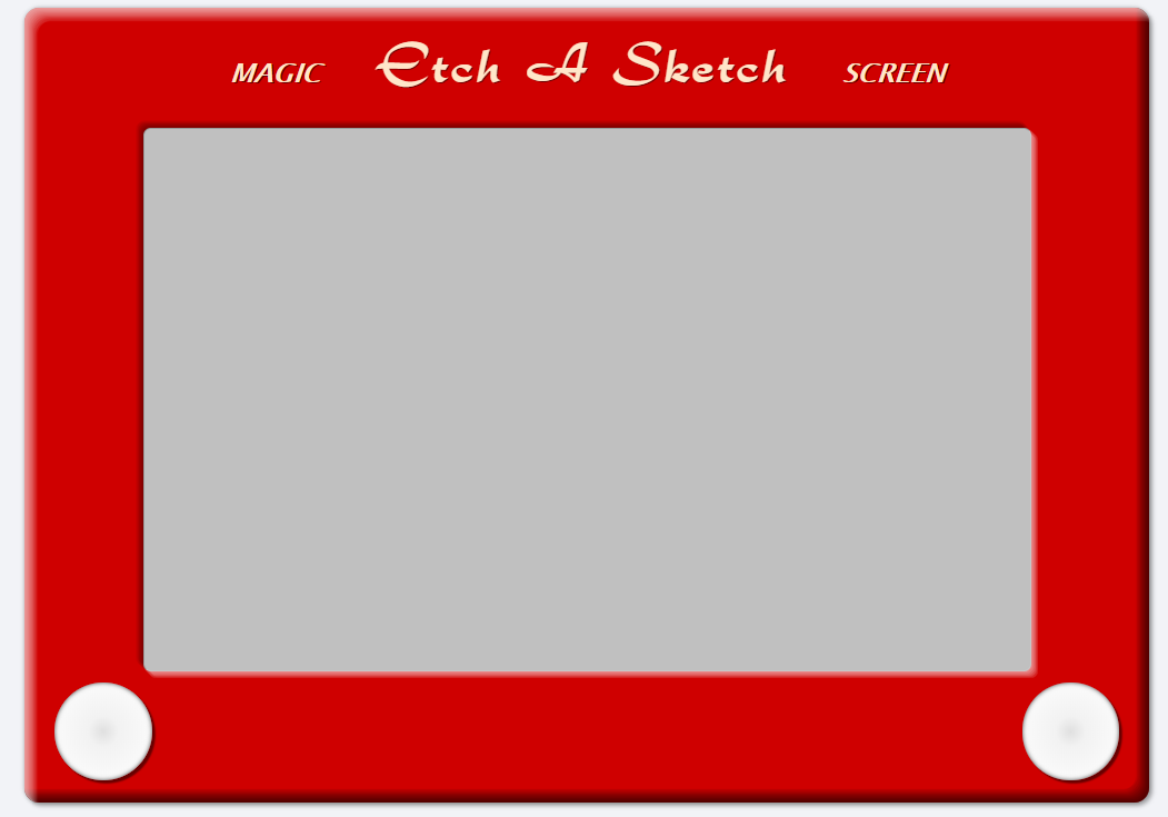 Example of an Etch A Sketch widget