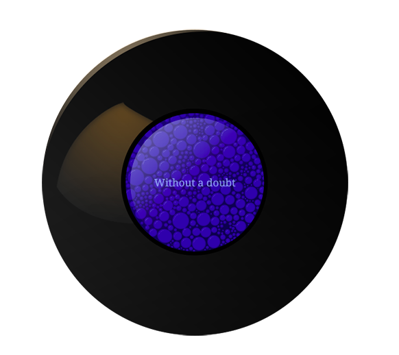 Example of a Magic 8-Ball widget