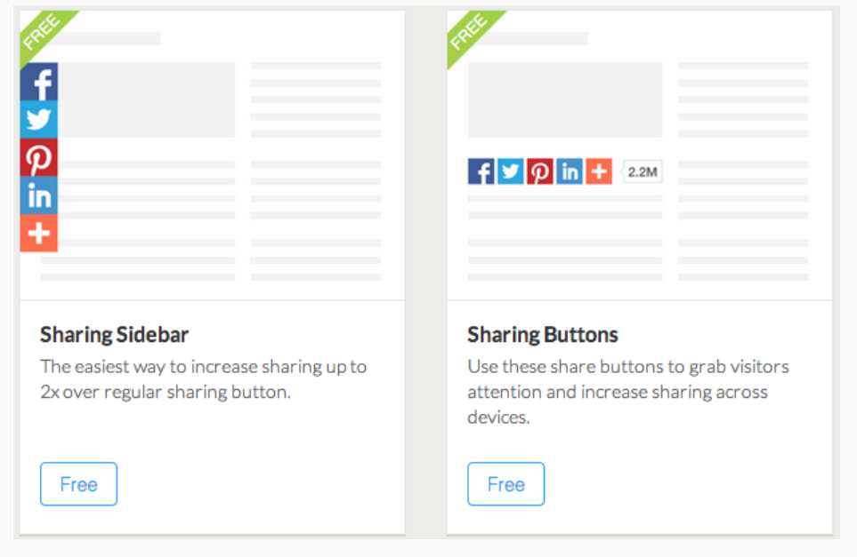 Example of a social media widget