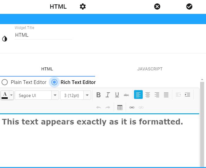 Installing widgets in HTML