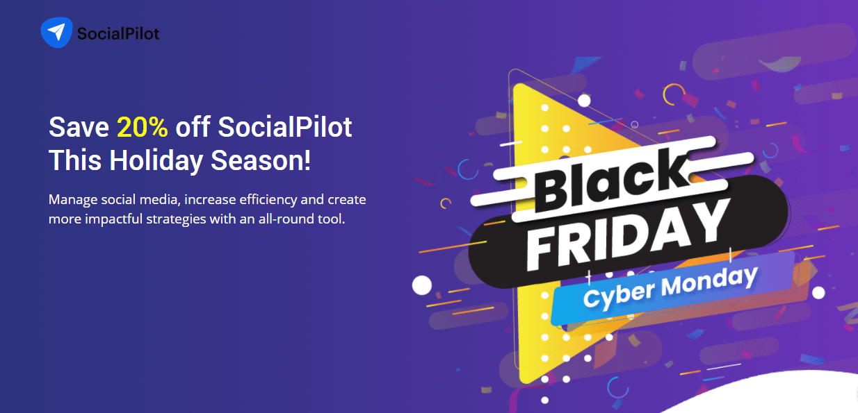 SocialPilot Black Friday 2020