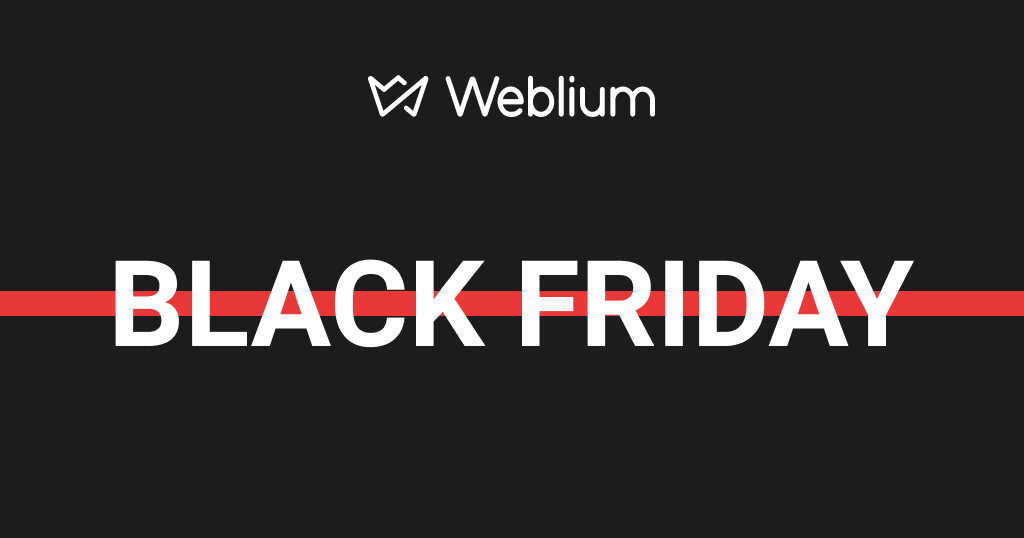 Weblium Black Friday 2020