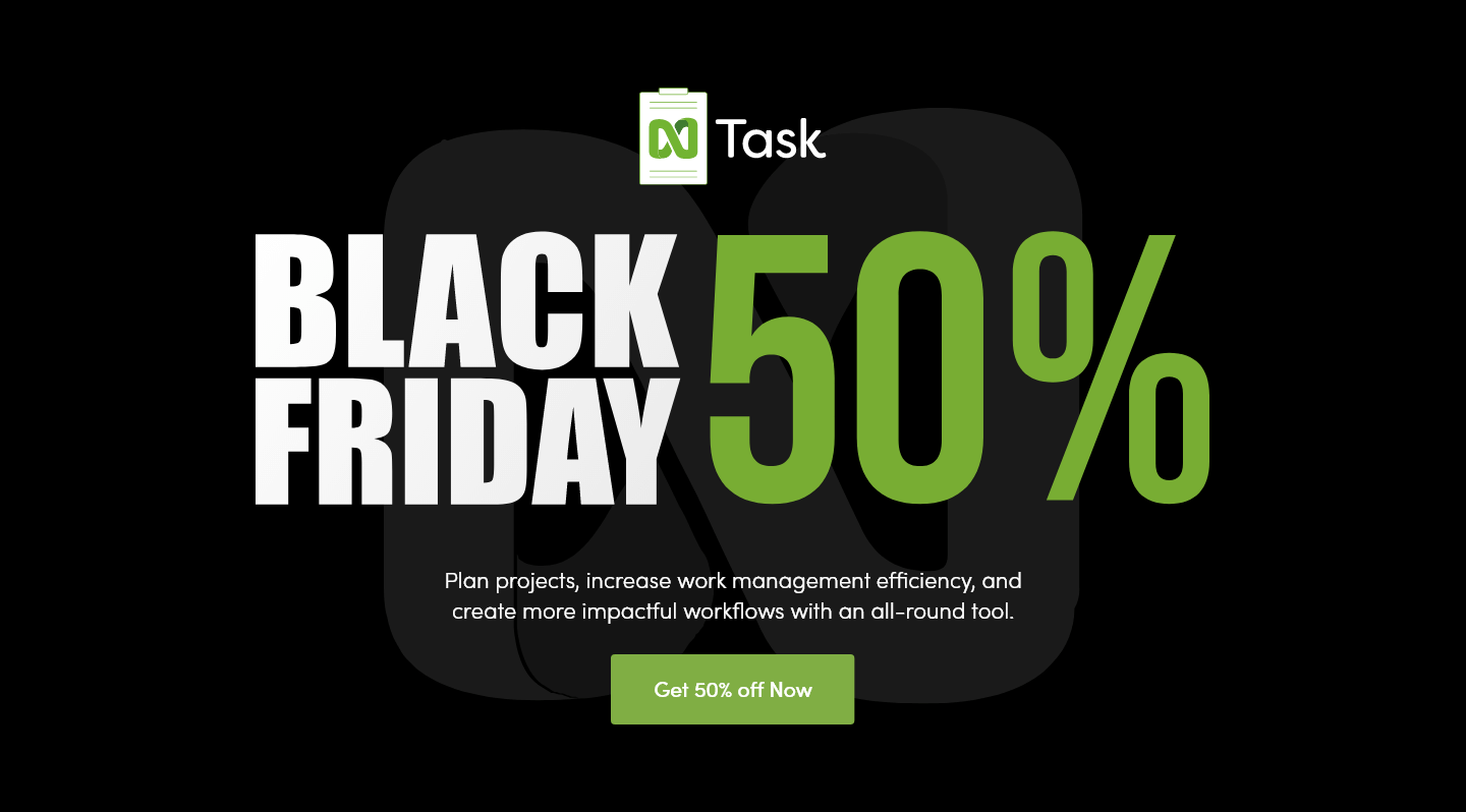 nTask Black Friday 2020