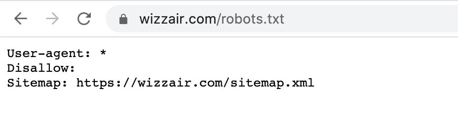 WizzAir robots.txt