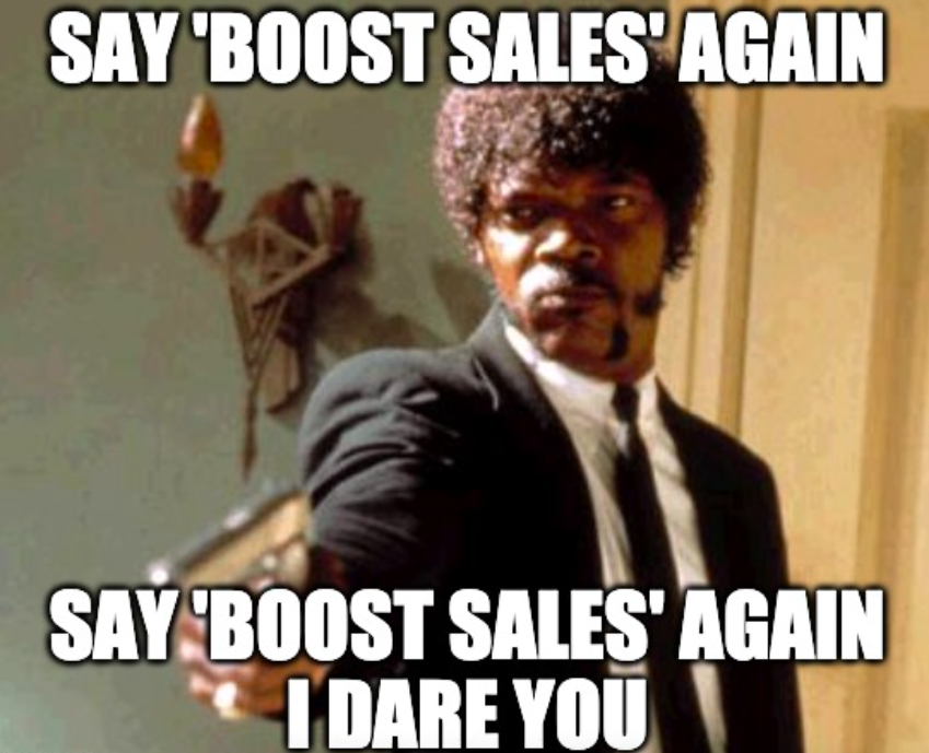 Pulp Fiction boost sales meme