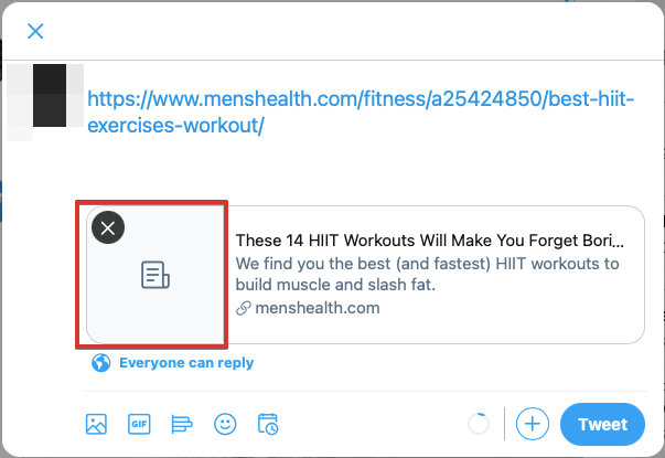 Displaying images for links shared on Twitter