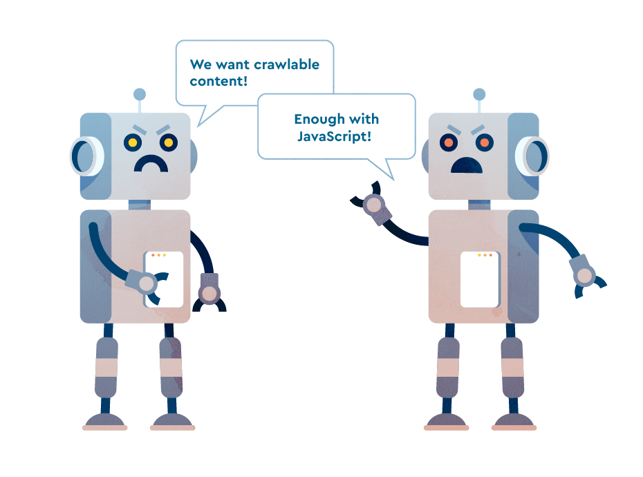 Search bots failing to understand JavaScript