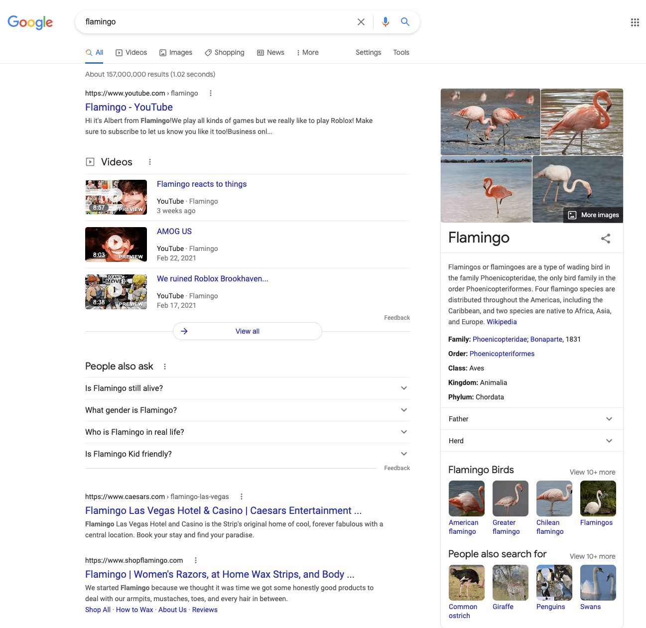 Search results for a general query