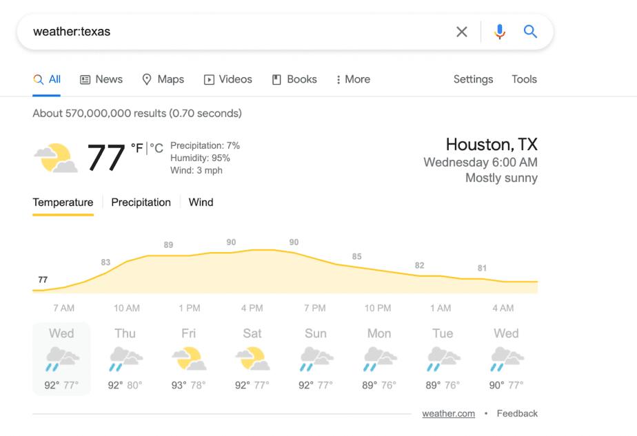 weather:texas