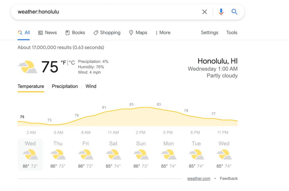 weather:honolulu