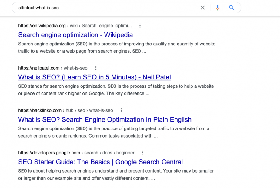 allintext:what is seo
