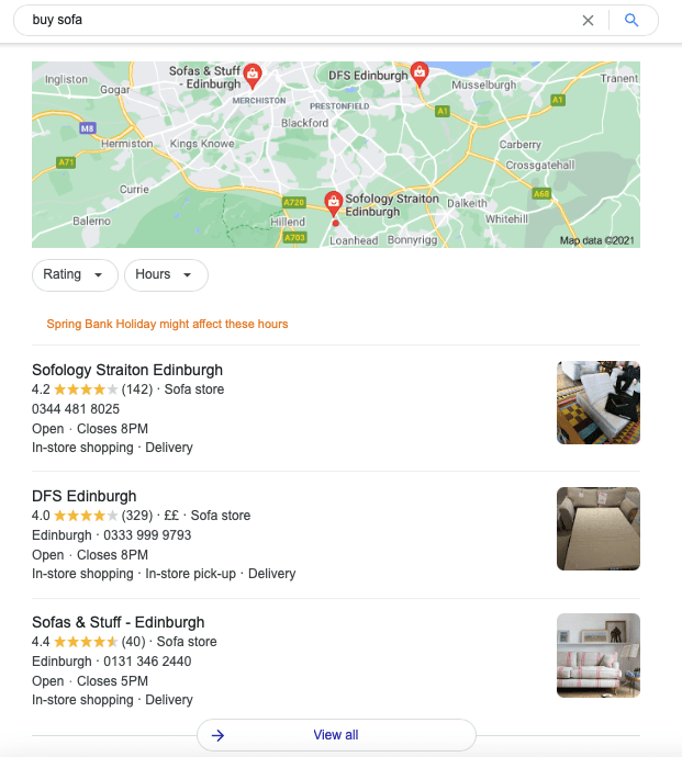 Map in the SERP