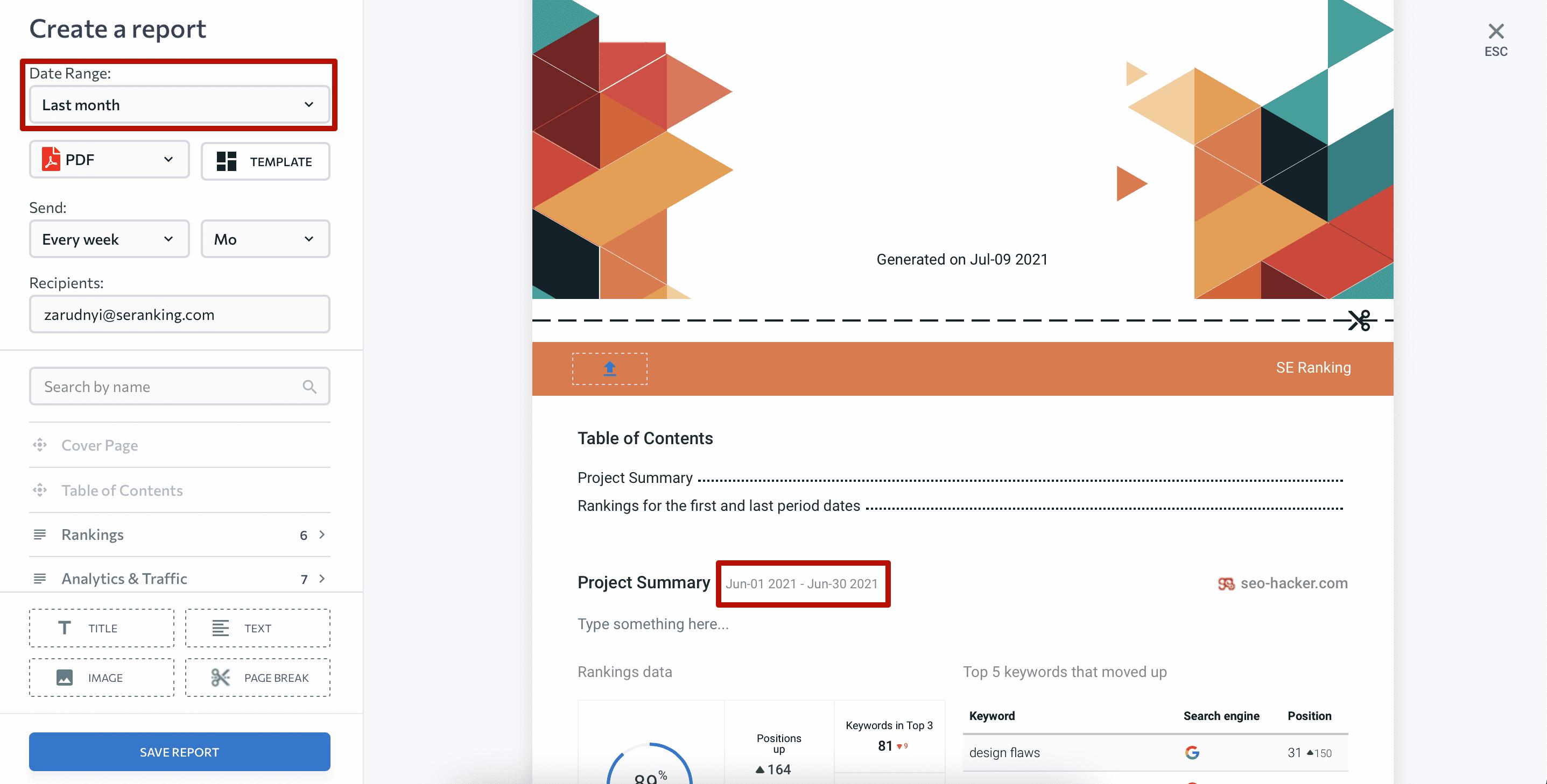 Date range update in Report Builder