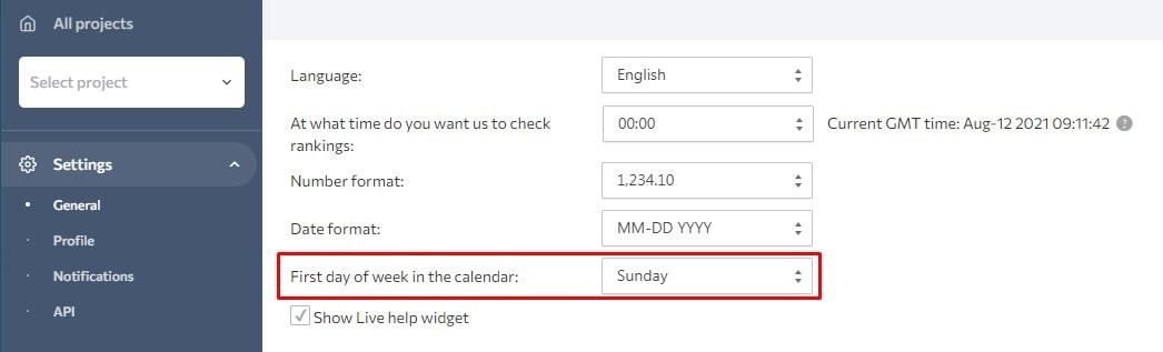 Choosing between Sunday or Monday to start a calendar week