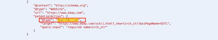 SITELINKS SEARCH BOX code