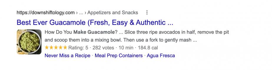 recipe Google