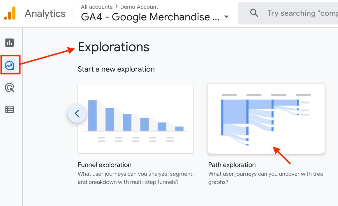 Path Exploration in GA4