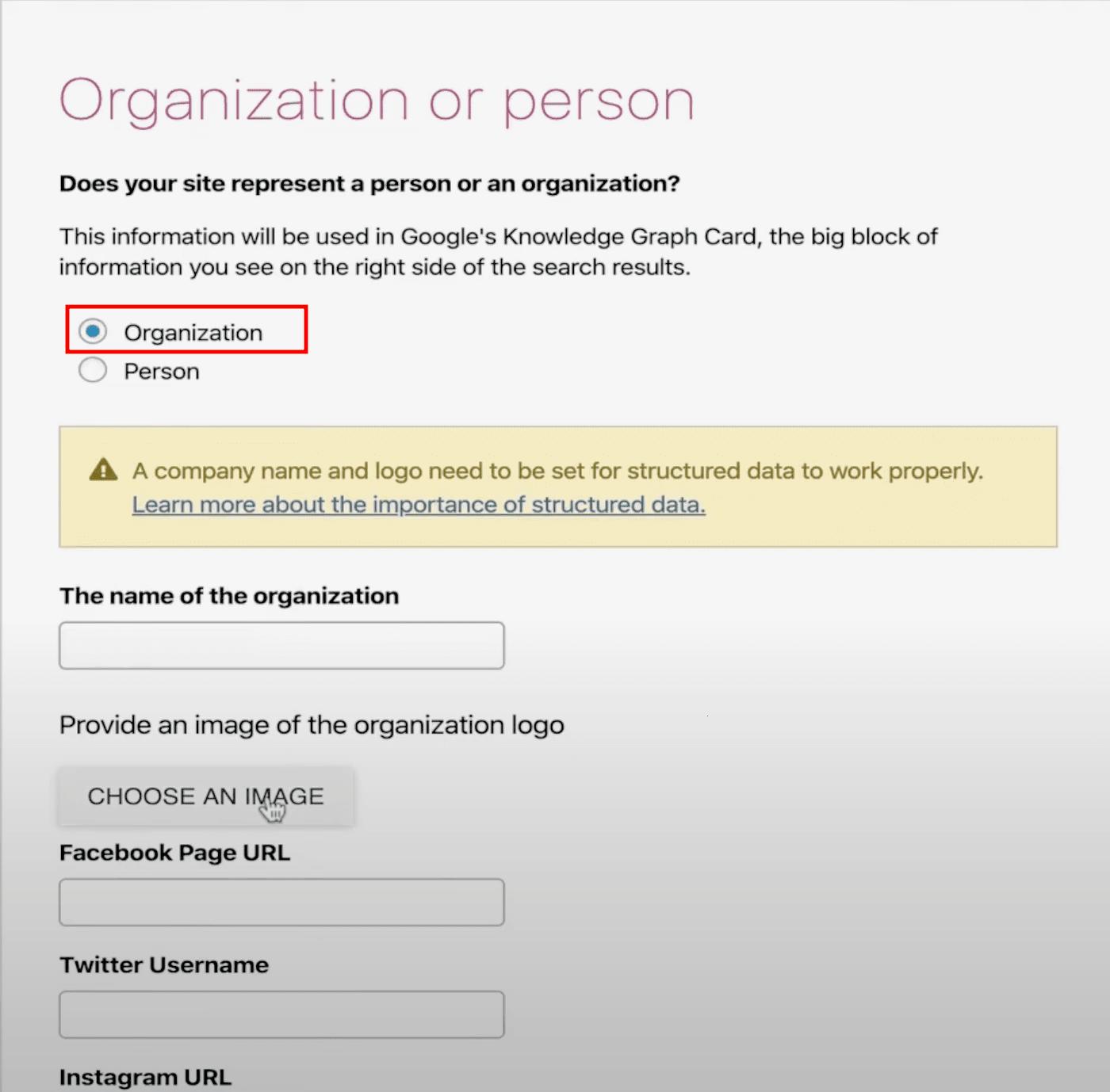 Ajout du balisage du schéma d'organisation à un site Web à l'aide de Yoast SEO