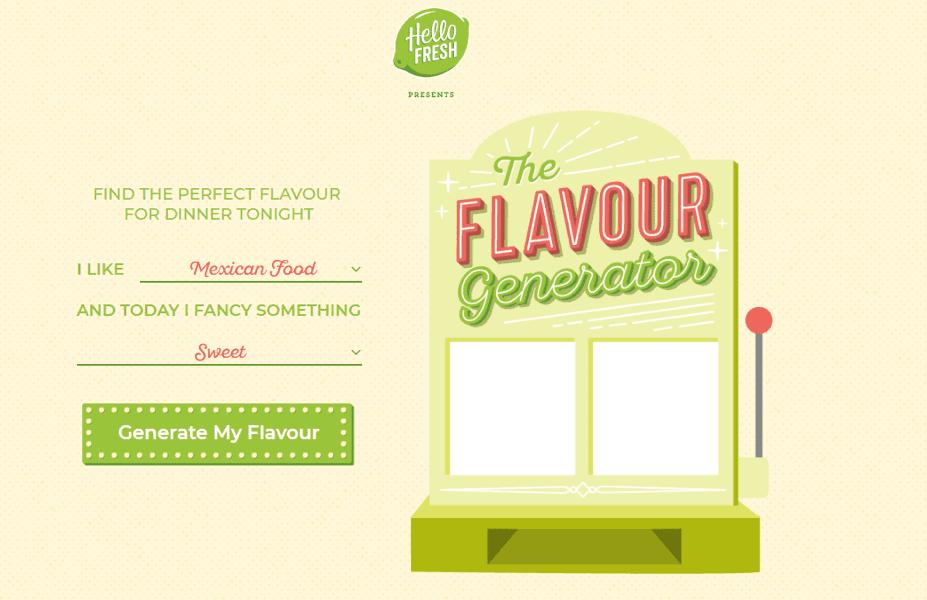 Com es el generador de sabores Hellofresh