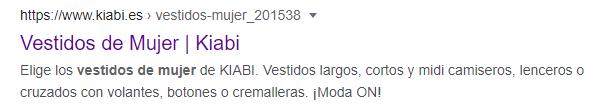 Resultado de Google sin ruta de navegación