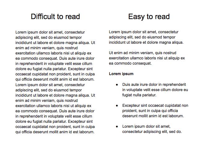 Comparación de legibilidad de textos