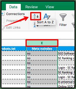 Excel-data-sorting